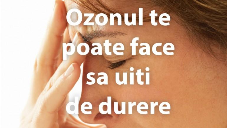 Ozonul te poate face sa uiti de durere