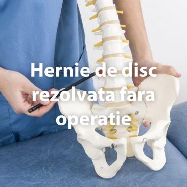 Hernie de disc rezolvata fara operatie