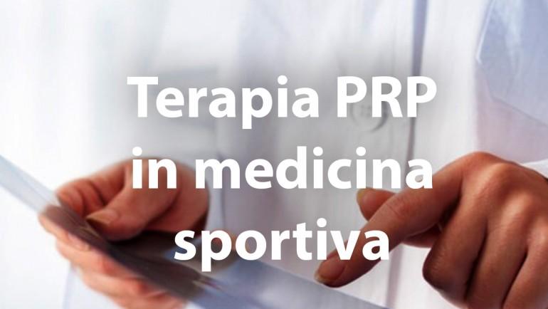 Terapia PRP in medicina sportiva